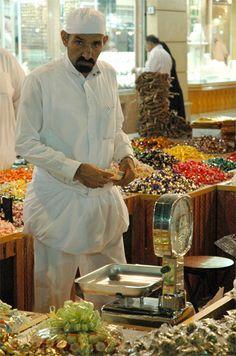 Sweets of the Eid in a market - Jeddah, Saudi Arabia