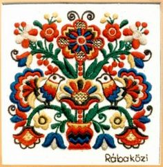 Popular Embroidery Designs Hungarian embroidery/f. Hungarian Embroidery, Brazilian Embroidery, Folk Embroidery, Types Of Embroidery, Learn Embroidery, Embroidery Jewelry, Chain Stitch Embroidery, Embroidery Stitches, Embroidery Patterns