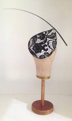 Derby Day teardrop headpiece by Murley & Co Millinery #millinery #HatAcademy