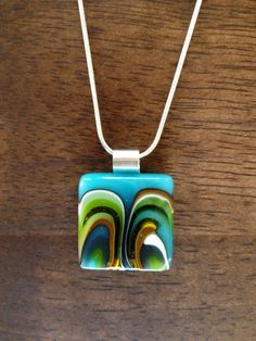 Items similar to Blue, green, brown and vanilla fused glass pendant on Etsy Fused Glass Jewelry, Glass Pendants, Green And Brown, Blue Green, Handcrafted Jewelry, Unique Jewelry, Jewelry Crafts, Jewelry Ideas, Dichroic Glass