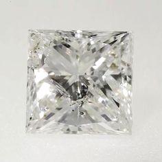 0.27 ctw I Color I2 Clarity 3.68x3.60x2.41 mm Princess Cut Natural Loose Diamond