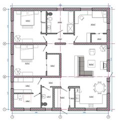 проект дома площадью 158 кв.м. 2bhk House Plan, House Plans One Story, Atrium House, Facade House, 3 Storey House Design, Apartment Floor Plans, Prefabricated Houses, Handmade Home Decor, Home Projects
