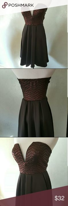  Black burgundy metallic dress Black and burgundy metallic tube top dress for any occasion Chupchick Dresses Mini