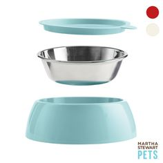 Three durable pieces for convenient and cute mealtime! Martha Stewart Pets® Dog Bowl - PetSmart $11.99 -$16.99