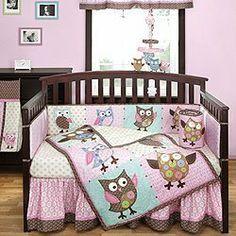 Calico Owls 4 Piece Crib Bedding Set by Bananafish by BananaFish, http://www.amazon.com/dp/B008O8VJBE/ref=cm_sw_r_pi_dp_DEk7qb0SQNQ35