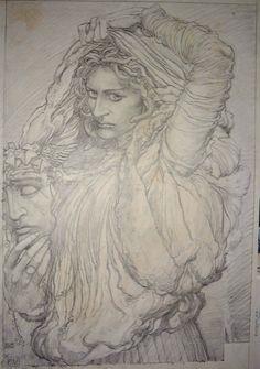 Barry Windsor-Smith - Medusa - Dibujo a lápiz