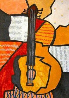 "By Pablo Picasso. ""Guitars"""