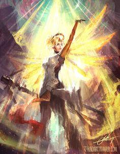 Heroes Never Die by C-HaoArt.deviantart.com on @DeviantArt - More at https://pinterest.com/supergirlsart #mercy #overwatch #fanart