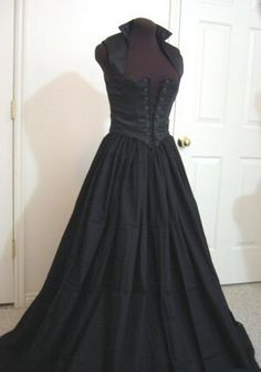 519d9d58619 Black Renaissance Bodice and Skirt Dress or Costume Set Made to FIT YOU!