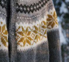 Nancy kofta, Nancy kofte, genser, sweater, tröja .… Fair Isle Pattern, Color Combos, Alice, Men Sweater, Photo And Video, Patterns, Knitting, Videos, Sweaters