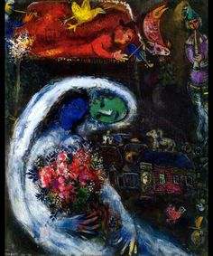 """Marc Chagall: """"Bride with Blue Face."""" (Private Collection)"""
