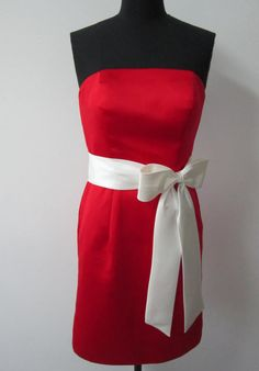 Sheath Knee-length #Bridesmaid #Dress With Bow Style Code: 00895 $59