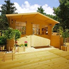 BillyOh Pathfinder 'Lodge' Log Cabin - Summer Houses - Garden Buildings Direct