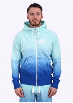 Nike Apparel AW77 FT FZ Hoody - Aqua Blue