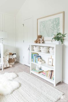 and baby room Baby room styled bookshelf and decor in a boho inspired gender neutral nursery. Baby room styled bookshelf and decor in a boho inspired gender neutral nursery. Baby Boy Nursery Room Ideas, Baby Room Boy, Baby Bedroom, Baby Boy Nurseries, Baby Room Decor, Nursery Themes, Girls Bedroom, Kid Bedrooms, Boy Nursery Rugs