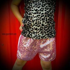 Kids - Sequin Paradise  Pink Shorts www.gypzranch.com