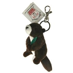 "Stuffed Animal House 3 5"" Mini Marmot Soft Plush Toy Keychain Zipper Pull 