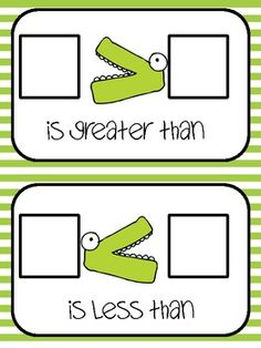 Greater Than, Less Than Work Mat and Game -