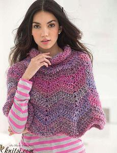 Ripple Poncho crochet pattern