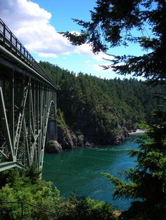 Deception Pass, WA.  I NEED to go to WA.  I think I'd fall in love and never want to leave.