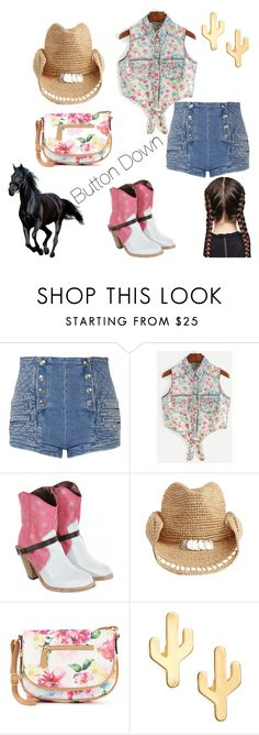 """Button Down"" by harmonyandlove on Polyvore featuring Pierre Balmain, Australia Luxe Collective, Flora Bella, Apt. 9 and CAM"