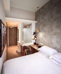 Singapore: BIG hotel interior. Neutral and cool tones - love the details. #smallroomdesignbedroom
