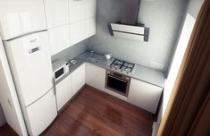 Картинки по запросу холодильник в углу кухни
