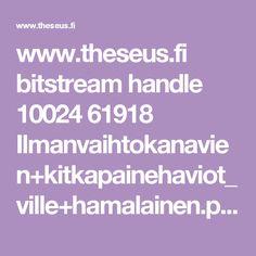 www.theseus.fi bitstream handle 10024 61918 Ilmanvaihtokanavien+kitkapainehaviot_ville+hamalainen.pdf?sequence=1