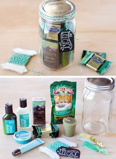 Lucky As Can Be Gift In A Jar   30 DIY Christmas Gifts in a Jar Ideas   DIY Mason Jar Christmas Gifts