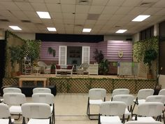 This is the set for Savannah Sipping Society. We are in a temporary venue until the theatre we will be in is finished.