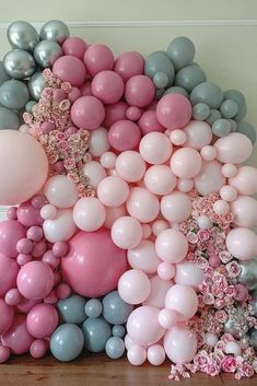 WEDDING  2 6 /12 Pack Table Balloon Decoration Display Kit PINK JUST MARRIED