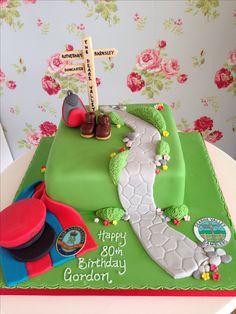 Ramblers cake Military police cake Police Cakes, Nature Cake, Mountain Cake, Hill Walking, 80 Birthday Cake, Cupcake Cakes, Cupcakes, Golden Anniversary, Piping Tips