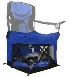 Simply add Wrapsit to your folding camp chair to make leisure time with small pets and all your gear safer, easier and more enjoyable.   #camping #petsafety