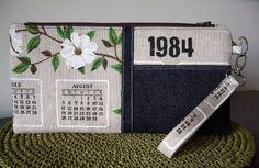 No tutorial, but CUTE idea, with a vintage linen calendar. MintBasil: sewing