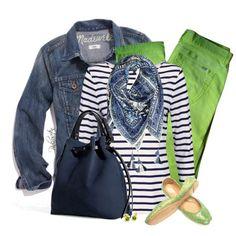 Jean Jacket & Colored Pants