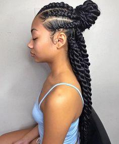 Jumbo box braids hairstyles - Inspired Beauty Black girls hairstyles - 16 Jumbo braids - Page 6 of 8 - Inspired Beauty Black Girls Hairstyles, Summer Hairstyles, Hairstyles 2016, Pretty Hairstyles, Ladies Hairstyles, 1930s Hairstyles, Braided Hairstyles For Black Women Cornrows, Wedding Hairstyles, Hairstyles Videos