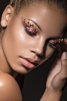 Shara Jeanelle by Marina Dean-Francis, via Behance Make Up Art, Make Me Up, Jewel Makeup, Extreme Makeup, Stunning Makeup, Makeup Designs, Fantasy Makeup, Everyday Makeup, Creative Makeup
