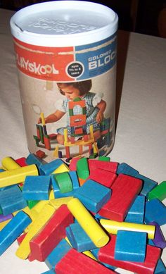 Vintage Playskool Wooden Blocks. These were Kevin's but we played with them a lot.