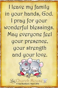 A prayer for my family.