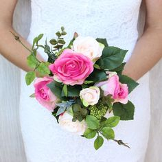 Your source for beautiful inexpensive artificial wedding bouquets online. Shop Afloral for silk weddings flowers the allergen-free, hassle free and inexpensive choice. Silk Bridal Bouquet, Rose Bouquet, Silk Roses, Pink Silk, Blush Wedding Flowers, Wedding Anniversary, Diy Wedding, Bouquets, Inspiration