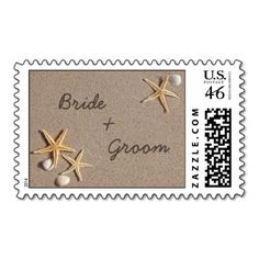 Personalized beach theme wedding stamps, starfish in the sand. Enter the names of the Bride & Groom, or change the text to say anything you wish. Get the matching save the date cards below. Save the Date photo cards by PMCustomWeddings #beach #beach #theme #starfish #weddings #save #date #save #the #date #template #customize #personalized #personalize #bride #groom #wedding #invitation #invitations #postage #stamps #sand #ocean #save #the #date #postage #save #the #date #stamps #usps