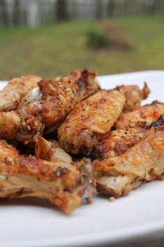 Baked Garlic & Onion Chicken Wings - super easy to make, and the perfect appetizer, or main dish! Onion Chicken, Baked Chicken Wings, Chicken Wing Recipes, Chicken Breasts, Fried Chicken, Chicken Wing Seasoning, Mexican Chicken, Bbq Chicken, Roasted Chicken