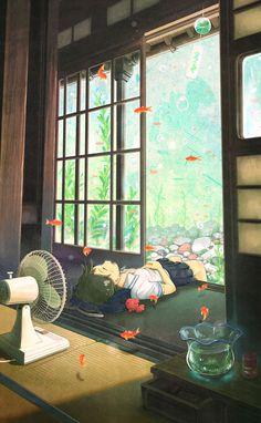 「夏の昼の夢」/「なば」のイラスト [pixiv]