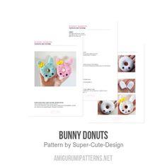 Bunny Donuts amigurumi pattern - Amigurumipatterns.net