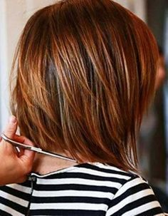 Most Beloved Layered Bob Styles Bob Hairstyles 2015 - Short Hairstyles for Women Dark Auburn Hair, Hair Color Auburn, Short Auburn Hair, Auburn Bob, Dark Hair, Blonde Hair, Brown Hair, Layered Bob Hairstyles, 2015 Hairstyles