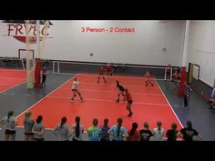 3v3 2 touch Volleyball Game - YouTube