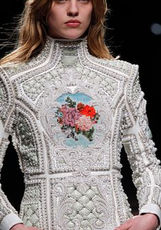 this is just so odd I had to pin it... but in some also odd way it's kinda pretty. o_O Balmain A/W 2012