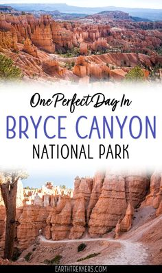 Bryce Canyon: one day in Bryce Canyon, with a full itinerary including the best hiking trails, best viewpoints, when to go, and photography tips. #bryce #brycecanyon #hiking #nationalpark