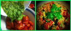 A super fresh, tasty and nutritional tomato salad with avocado and parsley pesto! Check out our video!