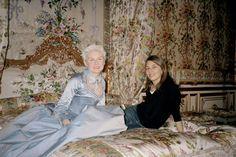 On set for Marie Antoinette - Sofia Coppola and Kirsten Dunst.